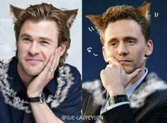 Chris and Hiddles cats