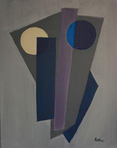 Lynda Arthur-Geometric Abstract. An acrylic  on canvas painting