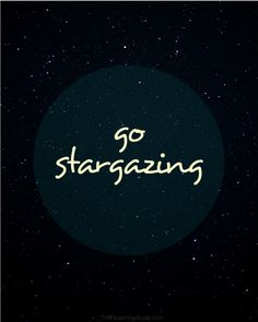 Go stargazing! Tips for DIY star photography + a free illustrated printable, from TheFlourishingAbode