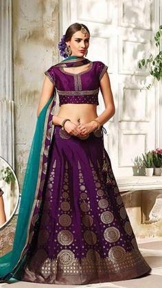 Purple Turquoise Sharara