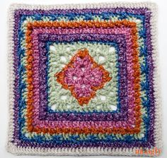 Moogly CAL 2016: Afghan Block #12. English Garden 12″ Square by Pattern Paradise - free crochet pattern.