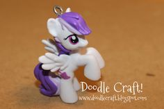 Doodle Craft...: Upcycled My little Pony figurine necklace!
