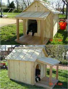 Keep It Traditional   15 Brilliant DIY Dog Houses With Free Plans For Your  Furry Companion