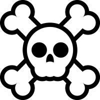 The Free SVG Blog.  Cute halloween skull