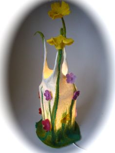 Table+Lamp+cover++Flower++Wet+Felted+by+FilzArts+on+Etsy,+$56.00