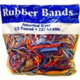 Amazon.com : BAZIC Assorted Dimensions 227g/0.5 lbs. Rubber Bands, Multi Color (465-48P) (4-Pack) : Office Products