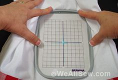 Embroidery Basics: How to mark and hoop your machine embroidery project.