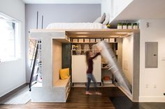 Smart, Multi-Functional Loft Saves Owners A Wealth Of Space In Tiny Apartment - DesignTAXI.com