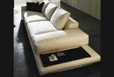 couch with ledge