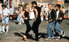 Olivia Newton-John andJohn Travolta as Sandy and Danny in 1978'sGrease.