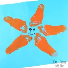 Starfish Footprint Art - Easy Peasy and Fun