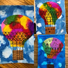 Coffee Filter Art with Hot Air Balloons