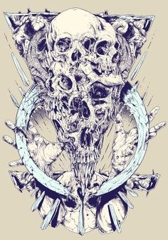 TOO MANY SKULLS by Rafal Wechterowicz, via Behance