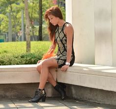 We love how Lissa Kahayon from Scene Stealer rocks our azrielle boots in her classy outfit.