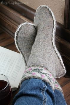 Upcycled Sweater Slippers and easy and practical way to repurpose an old or outdated sweater! - BusyBeingJennifer.com