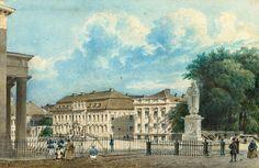 Friedrich Wilhelm Klose 1804 Berlin - nach 1863 Berlin Unter den Linden mit Kronprinzenpalais Aquarell. 14 x 21,5 cm.