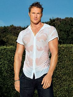 So it's official; if there was a guy wet t-shirt contest, his chances are high