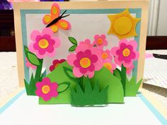 #pop up #card #paper #flowers #butterfly #birthday #arts #crafts #unique