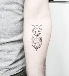 Image result for wolf outline tattoo