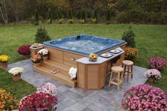 Imagine dipping yourself in these jacuzzi. These outdoor jacuzzi will revitalize your body after a long tiring day. garden hot tubs Outdoor Jacuzzi Ideas: Designs, Pros, and Cons [A Complete Guide] Hot Tub Gazebo, Hot Tub Garden, Hot Tub Backyard, Backyard Patio, Gazebo Pergola, Pergola Ideas, Backyard Ideas, Backyard Designs, Patio Bar
