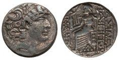 SELEUCID EMPIRE. Philip Philadelphus (ca. 95-75 BC). AR tetradrachm - Greek Coins - Coins