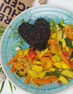 Mango-Kokos-Curry - Mit schwarzem Reis