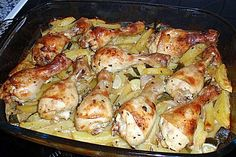 Knoblauch - Zitronen - Hähnchen mit Ofenkartoffeln 1