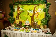 jungle_monkey_birthday_party_dessert_table_155