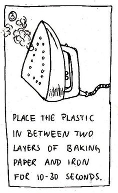 Cool visual instructions for fusing plastic bags into cooler things