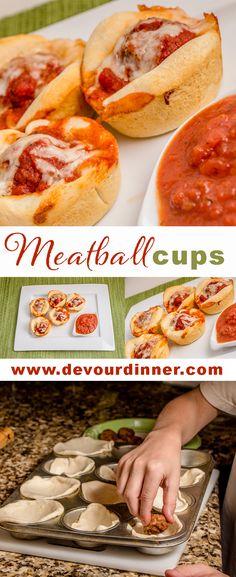 Meatball Cups - Devour Dinner
