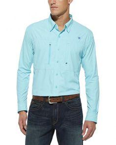 Ariat Radiance Blue Ventteck Long Sleeve Shirt