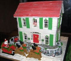 Red Roof Gingerbread House: Here's another beautiful Teen entry in the 2009 National Gingerbread House Competition at the Grove Park Inn.  Really beautiful