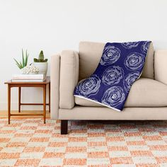 Buy 'Doodle Roses' Navy Blue and White throw blanket by Notsundoku | Society6. A repeat pattern of hand drawn doodle roses. #repeatpattern #patterns #roses #doodles #doodleart #flowers #handdrawn #Notsundoku #Society6 #throwblankets #blankets #livingspace #homedecor #cozy