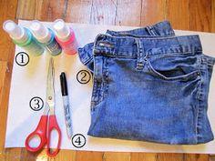 Fashionista New York Girl: DIY: Tie Dye Shorts