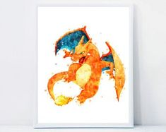 Watercolor Instant Download Nursery Wall Art by QualityPrintCenter Nursery Wall Art, Rooster, Handmade Gifts, Watercolor, Frame, Vintage, Kid Craft Gifts, Pen And Wash, Picture Frame