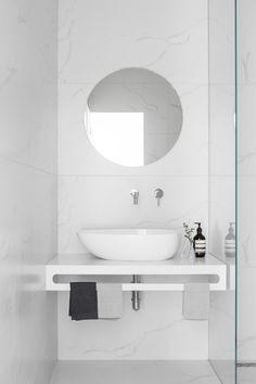 Modern Scandinavian Bathroom Interior In White - Home Decor Ideas - Bathroom Decor