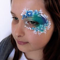 face paint eye design fast