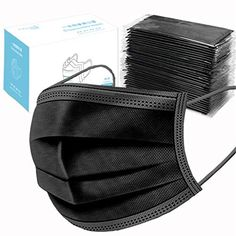 Anti Dust Face Pcs Elastic Earloop Breathable Dustproof Mask Black Breathing Dust Mask Mouth Cover Safety Mask Protection from Dust, Pollen, Pet Dander, Other Airborne Irritants Sacs Design, Safety Mask, Skill Training, Pet Dander, Diy Face Mask, Face Masks, Mouth Mask, Survival Skills, Survival Kit