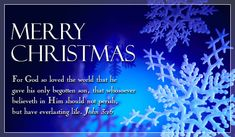 Free Merry Christmas - John 3:16 eCard - eMail Free Personalized Christmas Cards Online