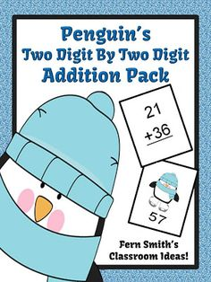 Fern Smith's FREE Penguin's Two Digit By Two Digit Addition Center Game - Classroom Freebies Fun Classroom Activities, Classroom Freebies, Math Classroom, Classroom Ideas, Math Games, Classroom Tools, Addition Activities, Math Addition, Addition And Subtraction