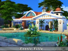 Created By Danuta720 Exotic Villa - No CC! Created for: The Sims 4 Exotic villa is a comfortable home not only for holidays. No CC! Decorated: Throughout Bedrooms: 2 Bathrooms: 2 Stories: 2 Lot Size:...