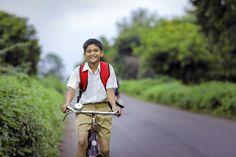 Cute indian school child going to school... | Premium Photo #Freepik #photo #vintage #school #nature #grass