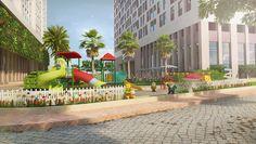 Sân vui chơi cho trẻ em trong Dự án First Home Premium