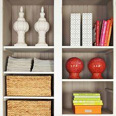 Dress Up Open Shelves