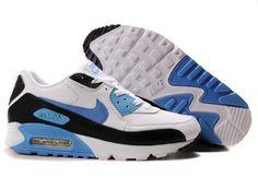 Nike Air Max 90 Damen Schuhe Blau/Schwarz/Wei&szlig