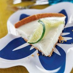 They say opposites attract, and, in the case of this cream pie, it's true. The rich sweetness of white chocolate and the tart crispness of key lime juice create a match made in flavor heaven.