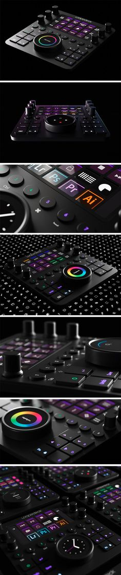 Tactilely control multiple Adobe softwares with this physical editing console! Technology Design, Technology Gadgets, Futuristic Technology, Pc Setup, Desk Setup, High Tech Gadgets, Cool Gadgets, Jhin League Of Legends, New Electronic Gadgets
