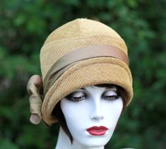 Woman's Cloche Downton Abbey Style Hat Vintage Classic by BuyGail, $155.00