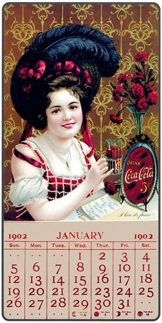 Vintage Ads Art - Coca - Cola Vintage Calendar by Sanely Great Coca Cola Poster, Coca Cola Ad, Always Coca Cola, Coca Cola Vintage, Vintage Advertisements, Vintage Ads, Santas Vintage, Coke Ad, Sodas