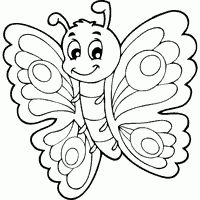 Kids Coloring Pages - Printable Coloring Sheets Coloring Pages For Grown Ups, Spring Coloring Pages, Free Adult Coloring Pages, Coloring Pages To Print, Free Printable Coloring Pages, Coloring For Kids, Coloring Sheets, Coloring Books, Butterfly Coloring Page